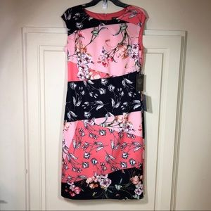 Vince Camuto Floral Design Sleeveless Dress Sz 12